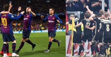 El Barcelona clasifica con goleada y el Ajax avanza a semis luego de 22 años