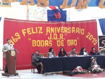 Colegio Julio Quezada celebra bodas de oro