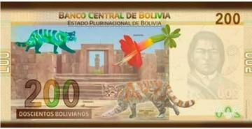 Evo revela el diseño del nuevo billete de Bs 200