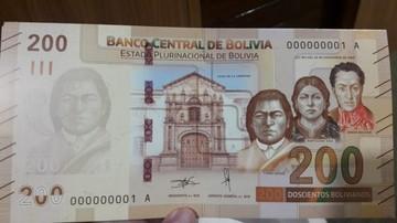 Entra en circulación el nuevo billete de 200 bolivianos
