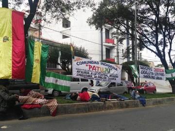 Familias de la comunidad indígena Patujú se declaran en huelga en el TCP
