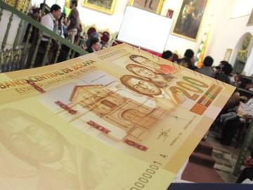 Nuevo billete de Bs 200 resalta por su seguridad