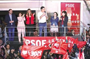 El PSOE gana en España pero aún debe negociar