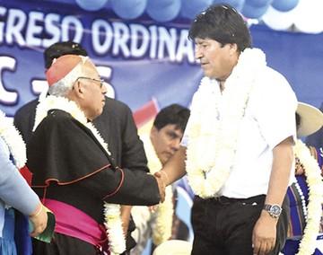 La Iglesia aclara apoyo del Cardenal a Evo