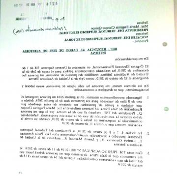 Renuncia otra autoridad del TSE, denuncia acoso