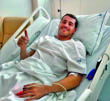 Iker Casillas va evolucionando favorablemente