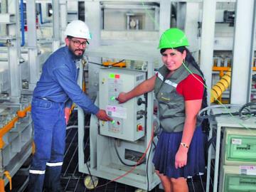 Encienden en Zudáñez horno de nueva fábrica