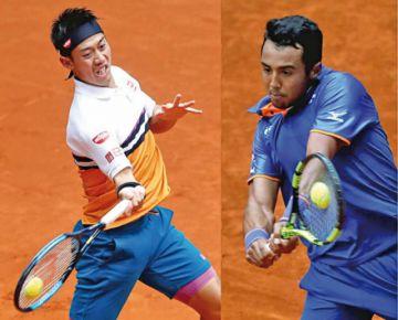 El Tigre de Moxos,  un partido de tenis