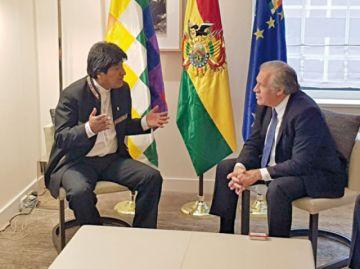 Luis Almagro se reunirá  con Evo y la oposición
