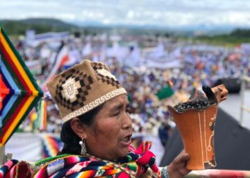 Ceremonia interreligiosa da inicio al lanzamiento de campaña electoral del MAS