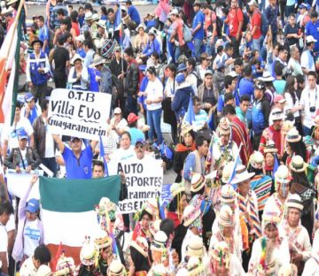 Chimoré acoge a militantes del MAS para proclamar a Evo y Álvaro