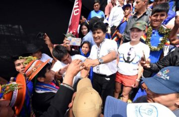 """Morales califica de """"exitosa"""" la concentración en Chimoré"""