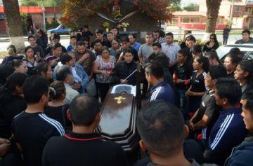 Velan el cuerpo del árbitro Hurtado en Cochabamba