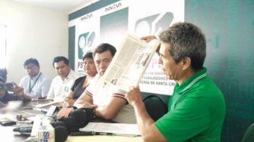 Gobierno ataca a diario El Deber tras denuncias