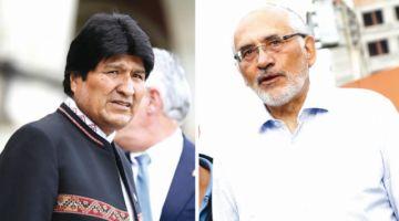 Evo pide que la oposición se una; Mesa descarta dejar candidatura