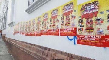 Sancionan a infractores por pegar afiches en la U