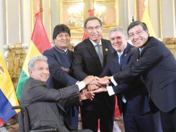 Bolivia asume la presidencia de CAN con llamado a unidad