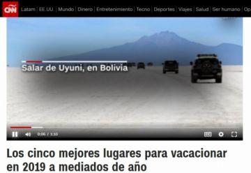 CNN destaca al Salar de Uyuni  como un sitio espectacular para visitar este año