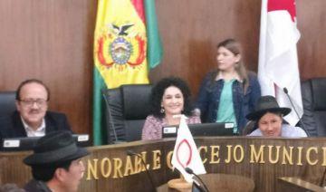 Rosario López es ratificada en la presidencia del Concejo Municipal