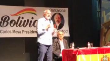 Mesa es cuestionado por afines al MAS en Barcelona