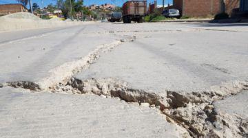 Losas dañadas en la Quiroga Santa Cruz