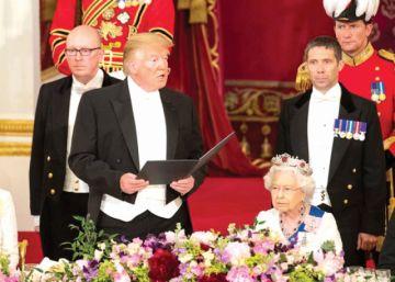 Donald Trump llega al Reino Unido y se enzarza en polémica