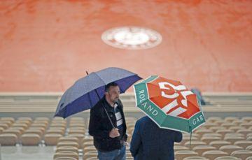 La lluvia aplaza  la jornada  de Roland Garros
