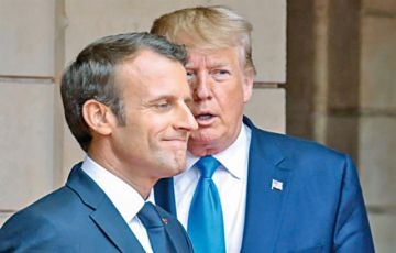 Trump y Macron obvian sus diferencias