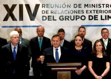 Grupo de Lima retomará presión sobre Venezuela
