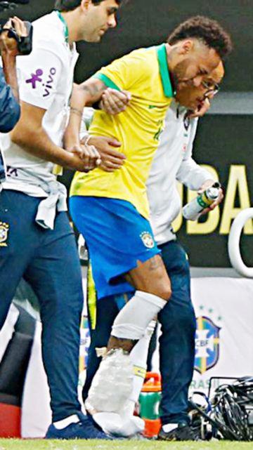 Neymar fuera por un mes