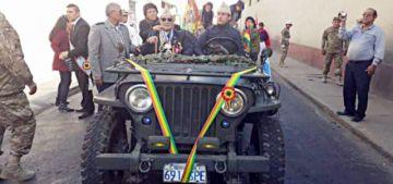 Honores a benemérito  de la Guerra del Chaco