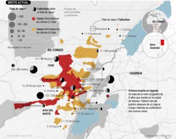 Temen rápida expansión del ébola a varios países