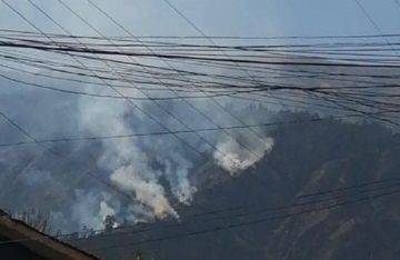 Un nuevo incendio afecta al Parque Nacional Tunari