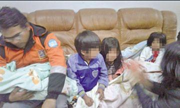 Niños abandonados son rescatados en la ciudad