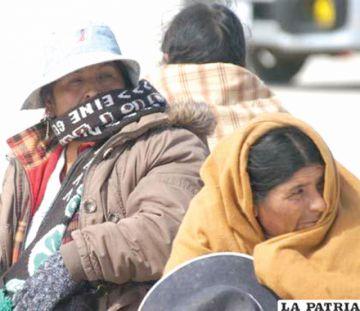 Las temperaturas en Oruro llegan a 17 grados bajo cero