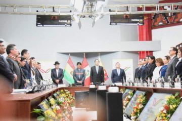 Evo y Vizcarra comandan el V Gabinete Binacional Perú-Bolivia