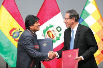 Perú y Bolivia definen promover megapuerto en Ilo y venta de gas