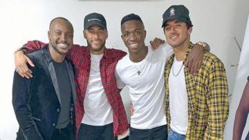 Neymar acude  a la fiesta de  Vinicius en Río