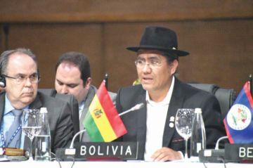 Canciller pide en la OEA  reiniciar diálogo con Chile
