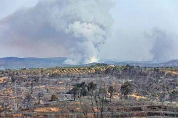España: Incendio forestal avanza fuera de control