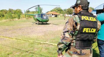 """La Paz: Decomisan """"narcohelicóptero"""" en pista clandestina"""