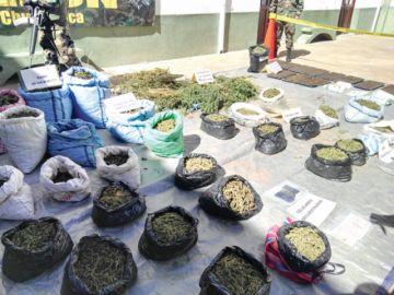 Retiran del mercado ilegal 108 mil dosis de marihuana