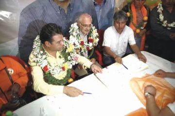 Acuerdos políticos apoyan la candidatura de Mesa