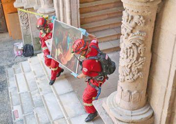 Ejecutan primer simulacro  para preservar patrimonio