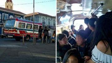 """Policía rescata a diez menores de bus """"chelero"""" y aprehende a dos personas"""