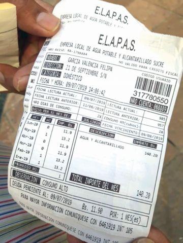 La facturación de Elapas desata críticas de Fedjuve