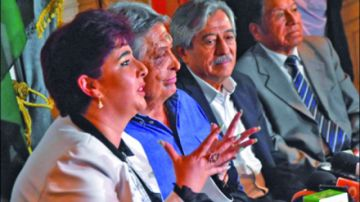 Candidata a Vice espera  sustituir a Paz Zamora