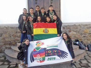 Una delegación de scouts  parte a encuentro mundial