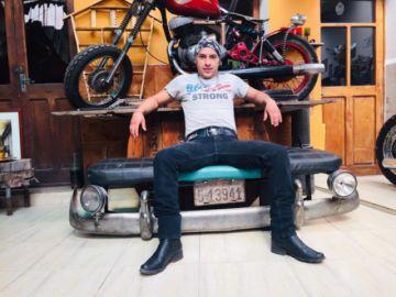 Freddy Bolaños, constructor de motos