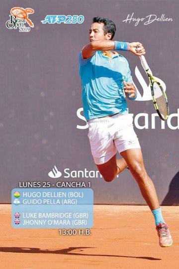 Hugo Dellien cae 11 posiciones en  el ranking ATP